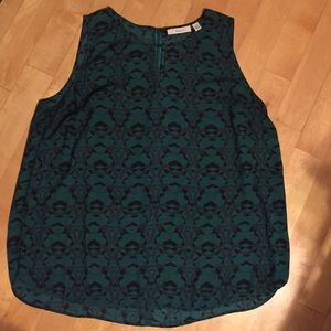 Sejour Tops - NWOT Emerald Printed Sleeveless Top