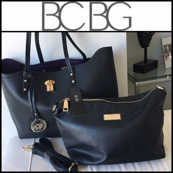 b68847a6c192 BCBG Paris Tote   Crossbody Bag 💜