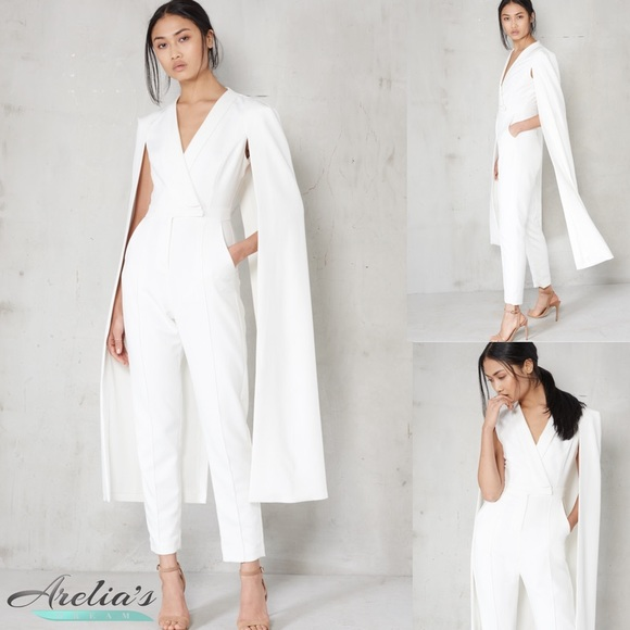 5fde6bb50d2 SOLD OUT LAVISH ALICE TAILORED CAPE JUMPSUIT