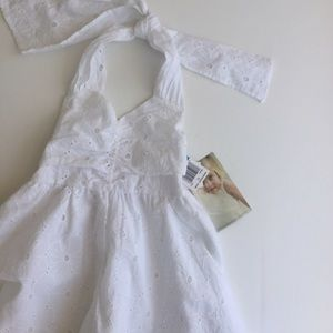 Sweet Heart Rose Other - White Halter Lace Dress
