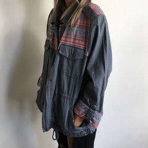 Mossimo Supply Co. Jackets & Coats - Denim Anorak with Tribal Print Details