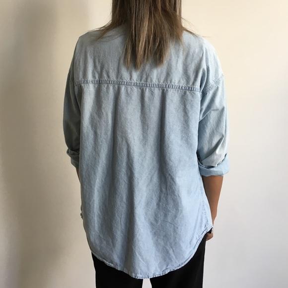 Zara Tops - Zara Denim Button Up Shirt