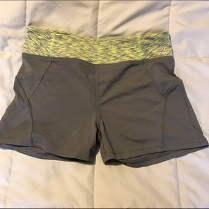 Joe Fresh Pants - Green and gray running shorts