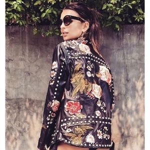 Studded and embroidered jacket