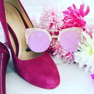 "Erica Rose Accessories - 🆑 ""Eliza"" Sunglasses    Pink Pearl & Pink Mirror"