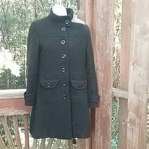Jackets & Blazers - Black wool dress coat