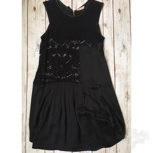 Nwot black lace  and silk Rebecca Taylor dress 10
