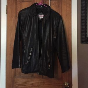 Futuro Jackets & Blazers - Plain black leather jacket