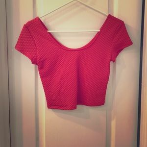 Coral crop top size small. NWOT