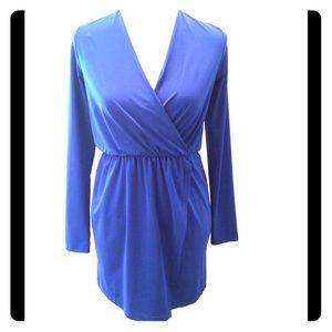 Tobi blue wrap dress