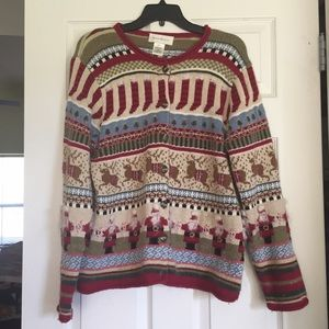 Sweaters - Fuzzy Tacky Christmas Scene Sweater