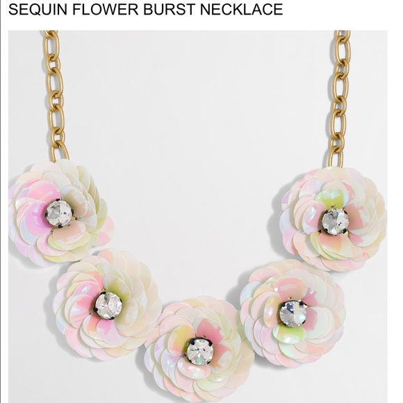 Sequin Flower Necklace NEVER WORN