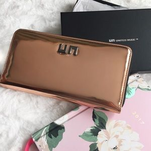 United Nude Handbags - United Nude Rose Gold Wallet