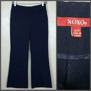 XOXO Pants - Navy Blue Dressy Pants from Macy's Size 0