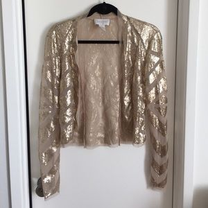 Stunning Champagne Sequin Shrug/Coverup