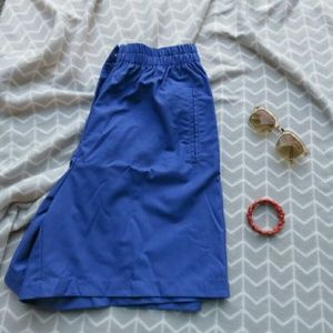 Vintage Karen Scott High-Waist Shorts Blue 10