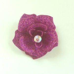 Jewelry - Vintage Purple Sparkly Flower Brooch