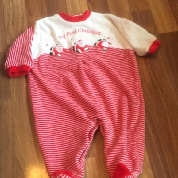 Little Me Shirts & Tops | Babies First Christmas Pjs Size 6 Months ...