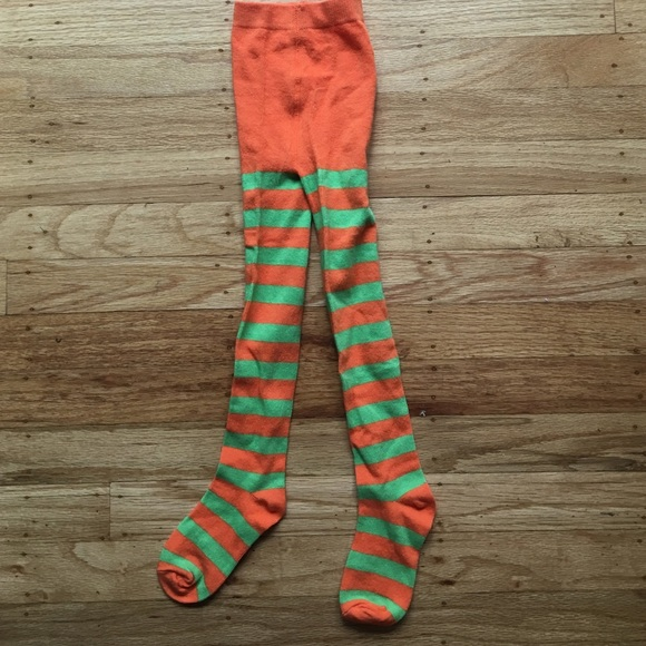 83e075f88 Gymboree Other - Orange and green striped tights