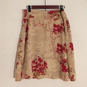 Forever 21 a-line cotton skirt. Knee length.