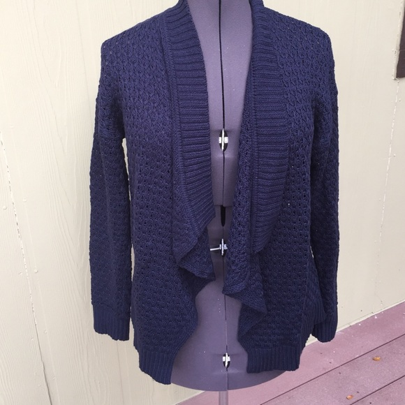 78% off Ann taylor loft Sweaters - Ann Taylor Loft navy blue knit ...