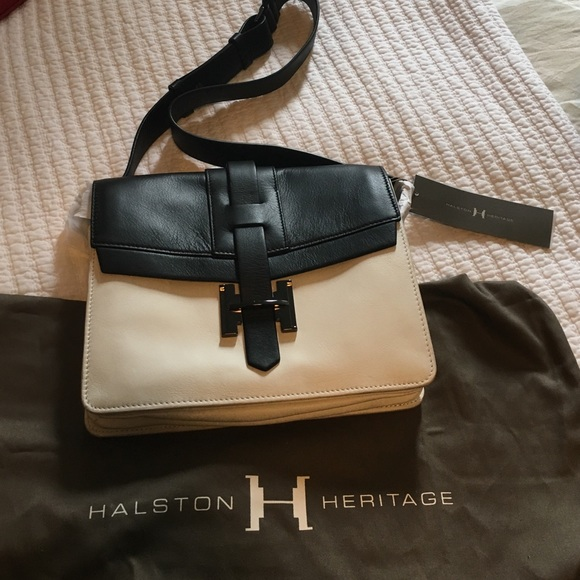 49a01bb663d Halston Heritage Bags   Black And White Shoulder Bag Nwt   Poshmark