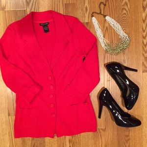 audrey & grace Jackets & Blazers - SALE 🎉 Stylish red blazer