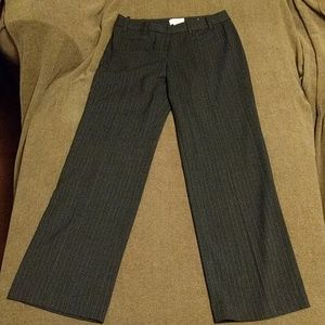 LOFT Pants - $10 if bundled! LOFT Grey Pinstripe Trousers