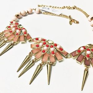 New York & Company Jewelry - NWT NY&Co Gold & Red Spiked Necklace