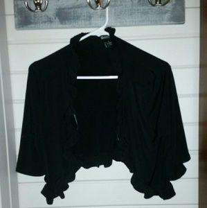 Glamour & Co. Tops - Black bolero jacket shrug