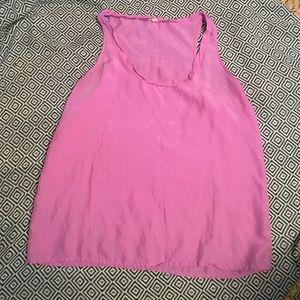J. Crew Silk Twyla tank - pink/ purple
