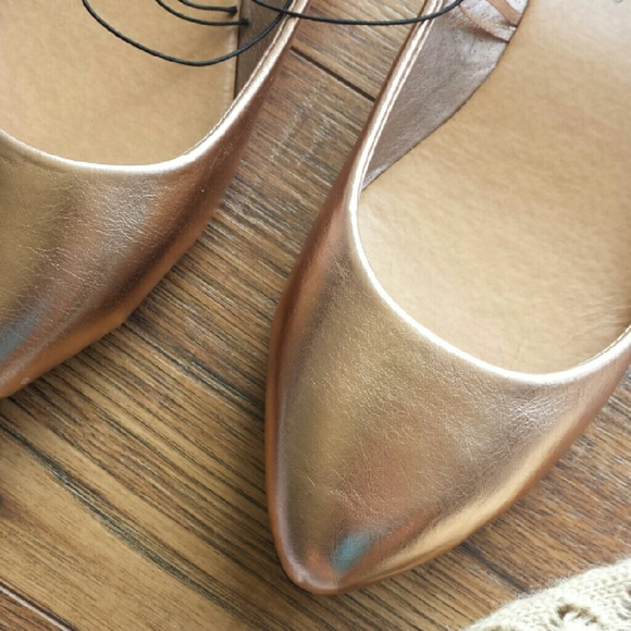 Wet Seal Shoes - Rose gold/champagne flats