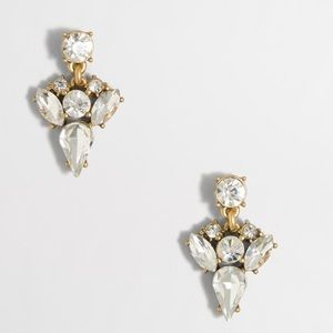 J. Crew Crystal Arrow Drop Earrings