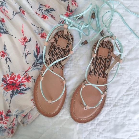 a97e8bd6b4f6 •Dolce Vita Mint   Calf Hair Karma Sandals•
