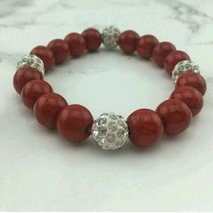 Red pave crystal bracelet