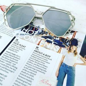 "Erica Rose Accessories - 🆑 ""Charlotte"" Sunglasses    Silver Geometric"