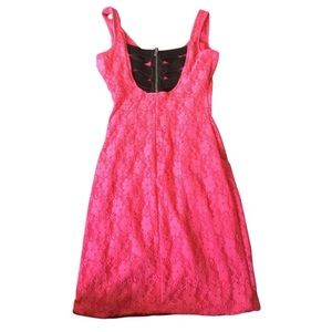Charlotte Russe Pink Mini Dress-Size M