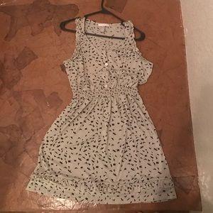 casual dress with bird print