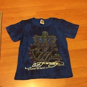 Ed Hardy Other - Blue designed Ed Hardy T-Shirt