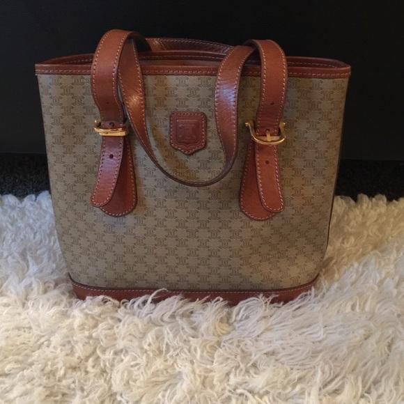 Celine Handbags - Vintage Celine Macadam handbag tote 1757fecbdfbc1