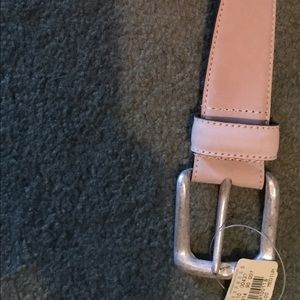 Express NWT leather sueded cream belt