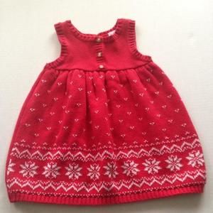 """Carter's """"hearts & snowflakes"""" sweater dress"""