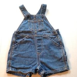 Baby Gap Other - Baby Gap denim short overalls