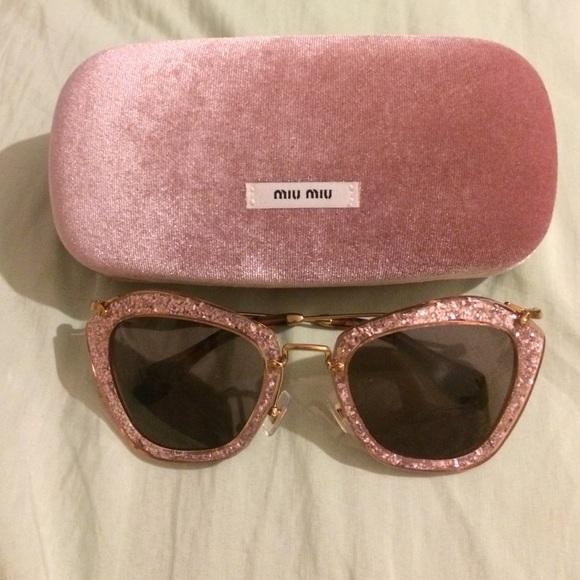 b10711331c10 MIU MIU pink glitter cat eye sunglasses. M_5802d5f67fab3aa2fe0705ca