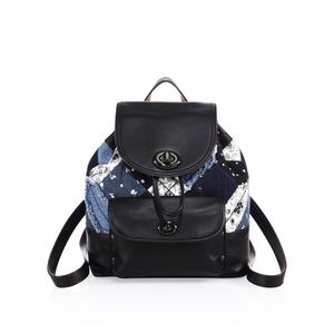 Coach Handbags - NWT Coach Mini Canyon Quilt Denim  Rucksack