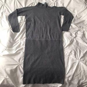 Ann Taylor Dresses & Skirts - NWT Ann Taylor Gray Long Sleeve Sweater Dress