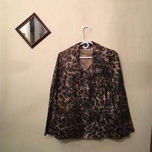 Susan Graver Jackets & Blazers - SUSAN GRAVER animal print jacket coat size small