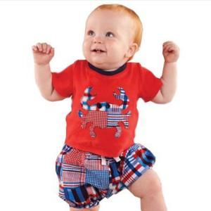 Mud Pie Other - Mud Pie Red White Crab Outfit 6-9