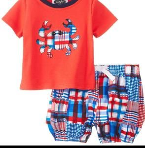 Mud Pie Other - Mud Pie Diaper Cover Set 6/9 NWT