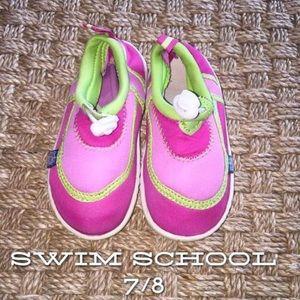 Swim School Other - Worn Swim School Pink and Green Swim Shoes M 7/8